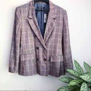 New York & Co plaid lined blazer NWT